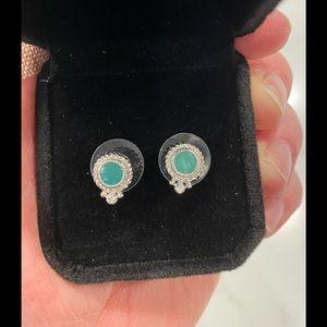 Judith Ripka Jade Stud Earrings